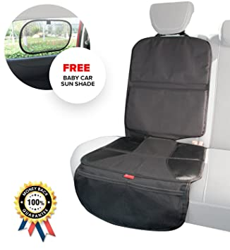 Car Seat Protector Deluxe Waterproof Car Seat Cover with Bonus Baby