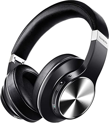 Over Ear Wireless Bluetooth Headphones with CVC 8.0 Mic, Deep Bass, Hi-Fi Sound,