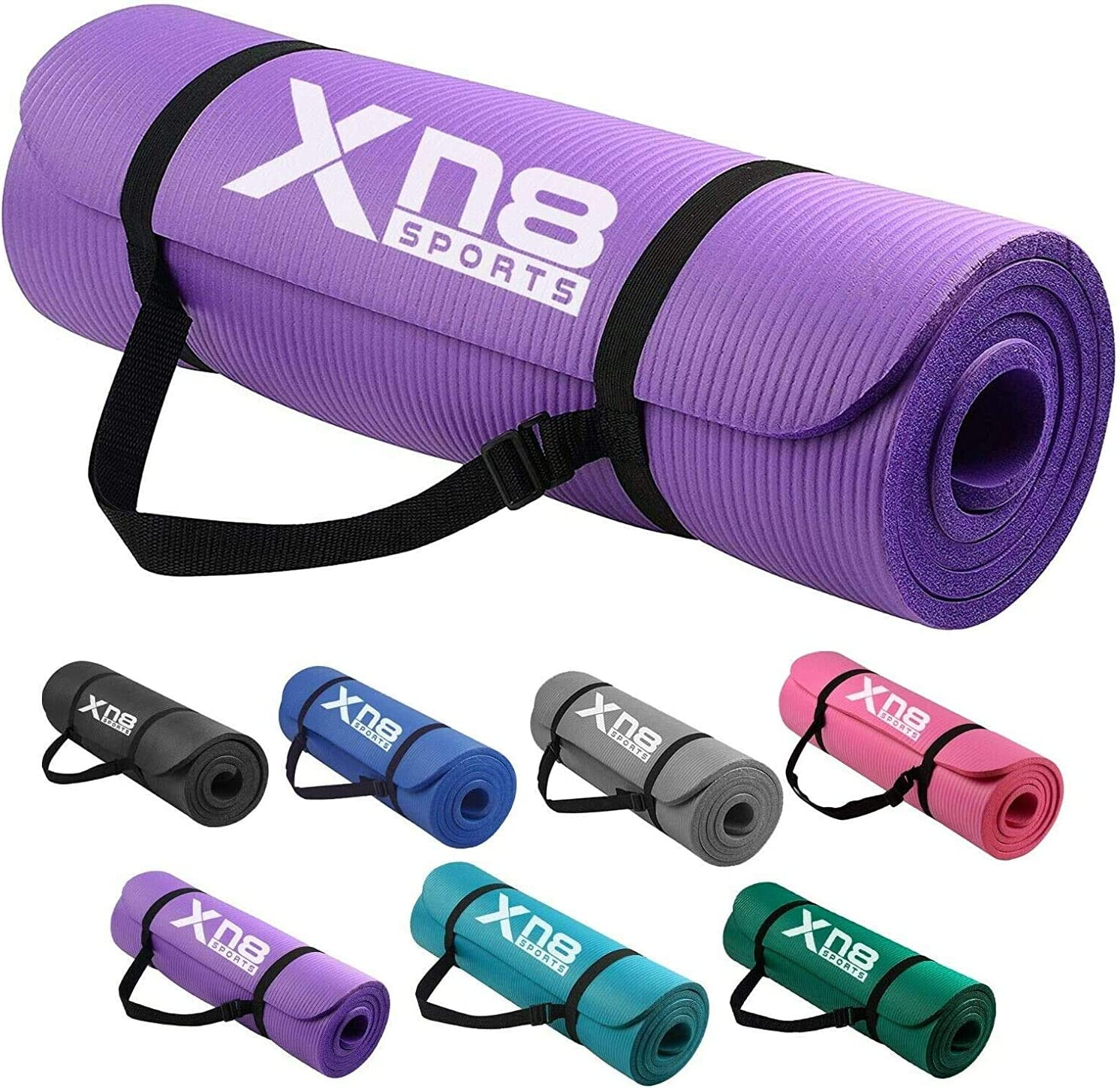 Xn8 Yoga Mat 1//2-Inch Extra Thick All-Purpose Non Slip High Density Anti-Tear Exercise Yoga Mats with Carrying Strap