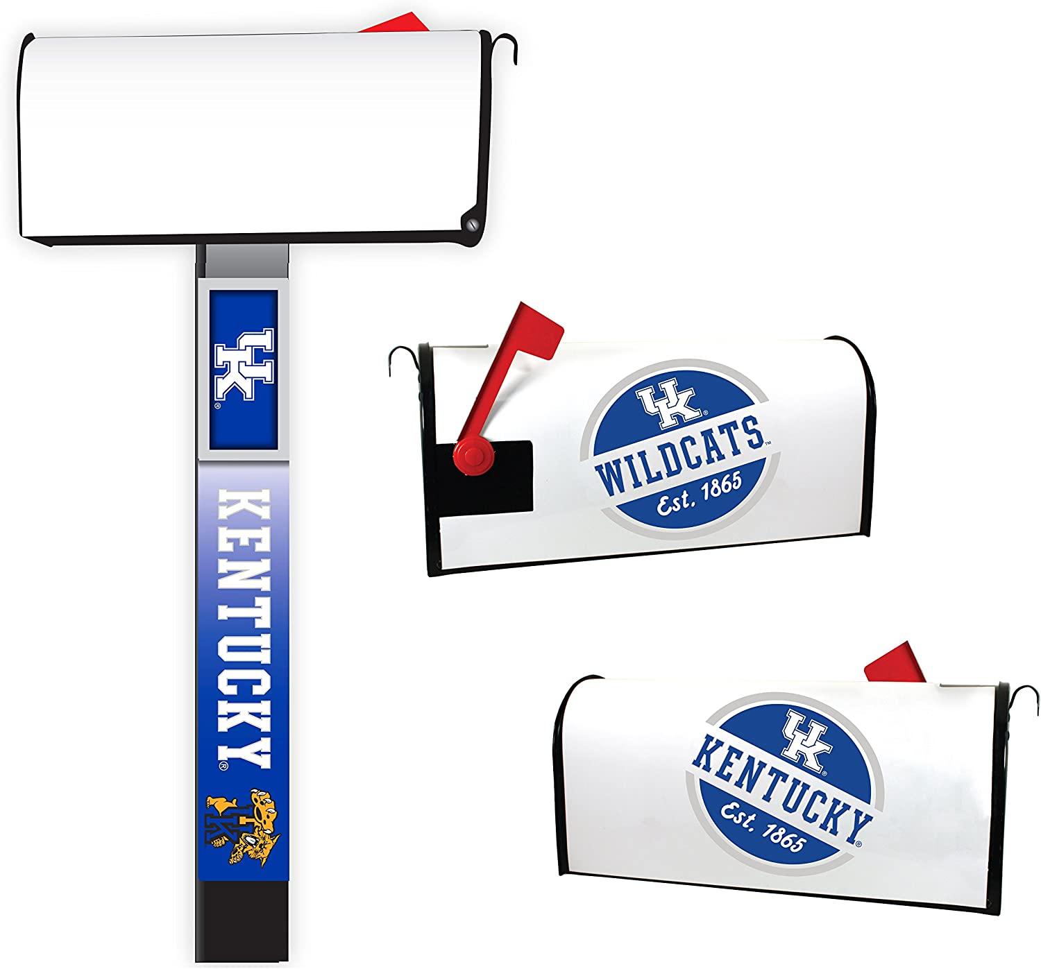 Kentucky Wildcats Magnetic Mailbox Cover 2-Pack Mailbox Post Cover