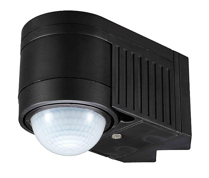 UKEW - Sensor de movimiento PIR de 360 grados con interruptor para exteriores IP44