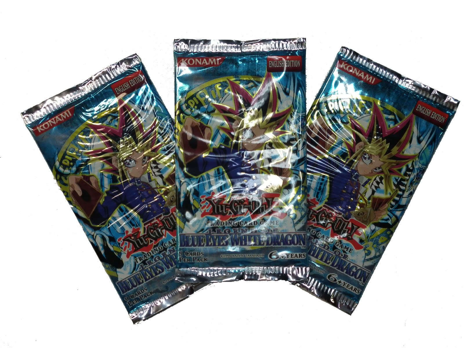 Yu-Gi-Oh - Legend of Blue Eyes White Dragon - Booster Pack (Lot of 3)