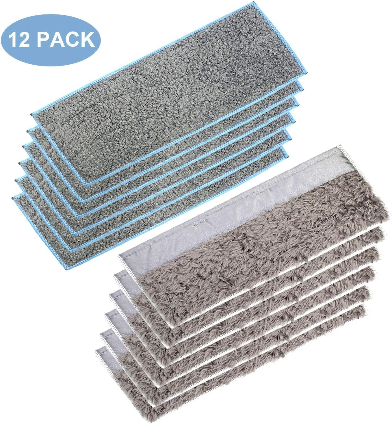 Extolife 12 Pack Washable and Reusable Mopping Pads for iRobot Braava Jet m6 (6110) Wi-Fi Connected Robot Mop (6 Wet Pads & 6 Dry Pads)