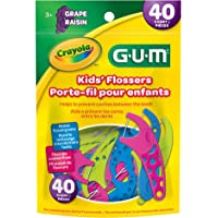 GUM Crayola Kids Flosser Picks, 40 count