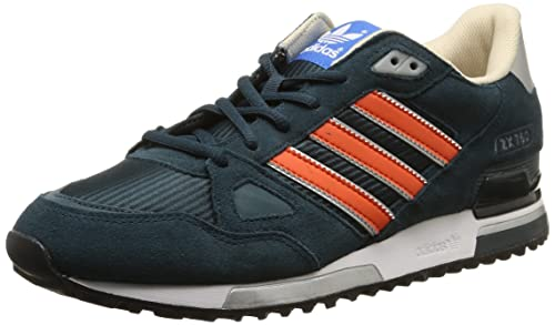 separation shoes 953f6 f4dc8 Adidas - ZX 750 - B24855 - Color  Navy blue-Orange-Silver -