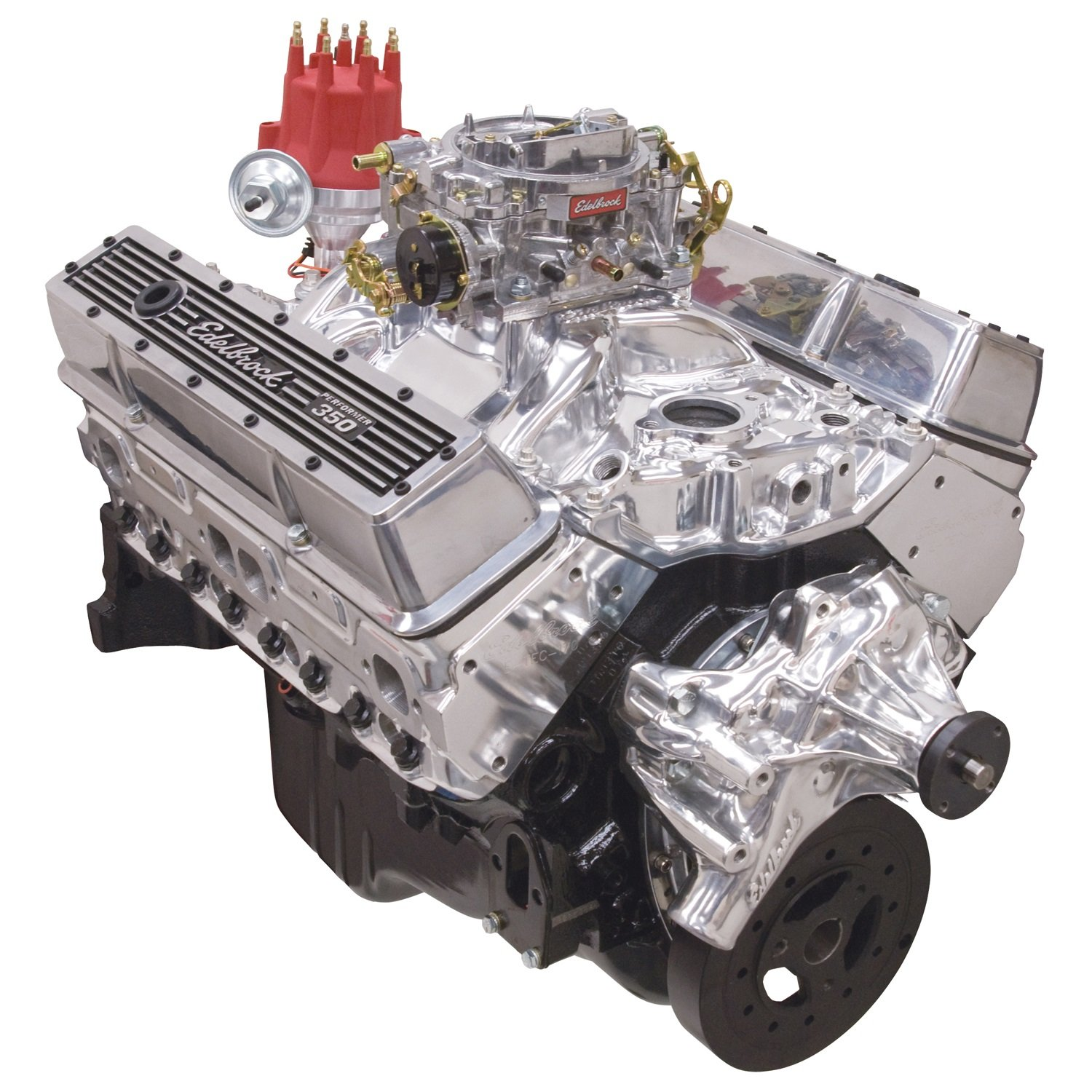 Edelbrock 46421 Performer 363 Hi-Torq Crate Engine 9.0:1 Compression 353HP/405Torque PerformerEPSVortecManifold/750 CFM Performer Series Carb Elec.Choke w/Long Water Pump PN[8811] Polished Performer 363 Hi-Torq Crate Engine