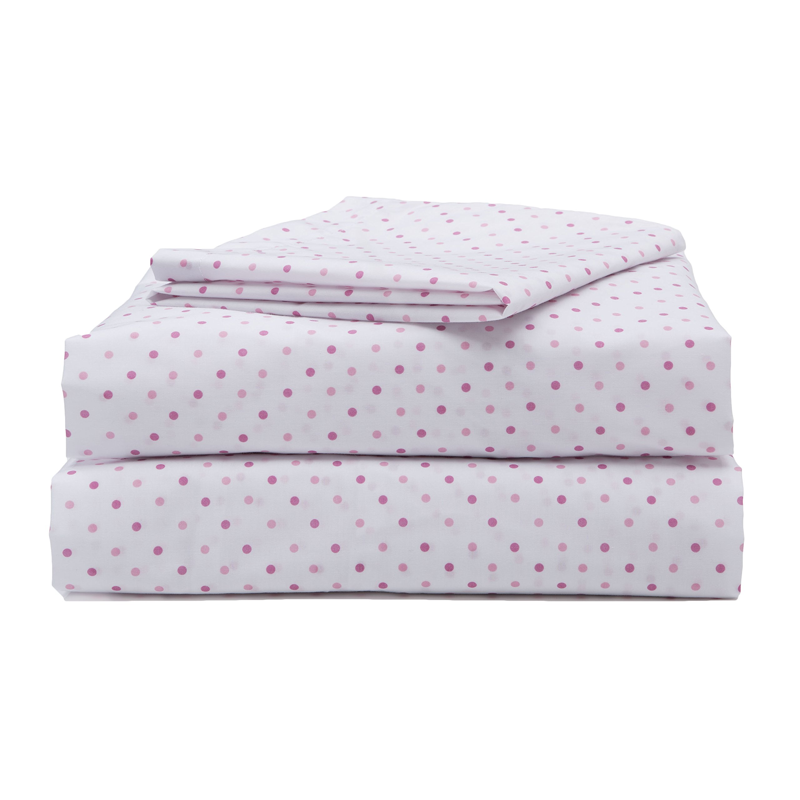 Girls Toddler Sheet Set, 3-Piece Pink Polka Dots by Delta Children