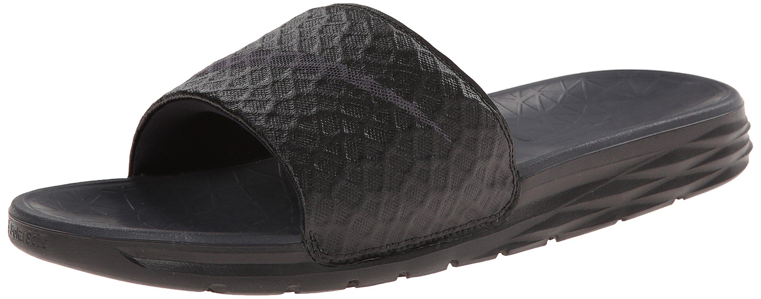 NIKE Men's Benassi Solarsoft Slide Sandal, Black/Anthracite, 10 D(M) US