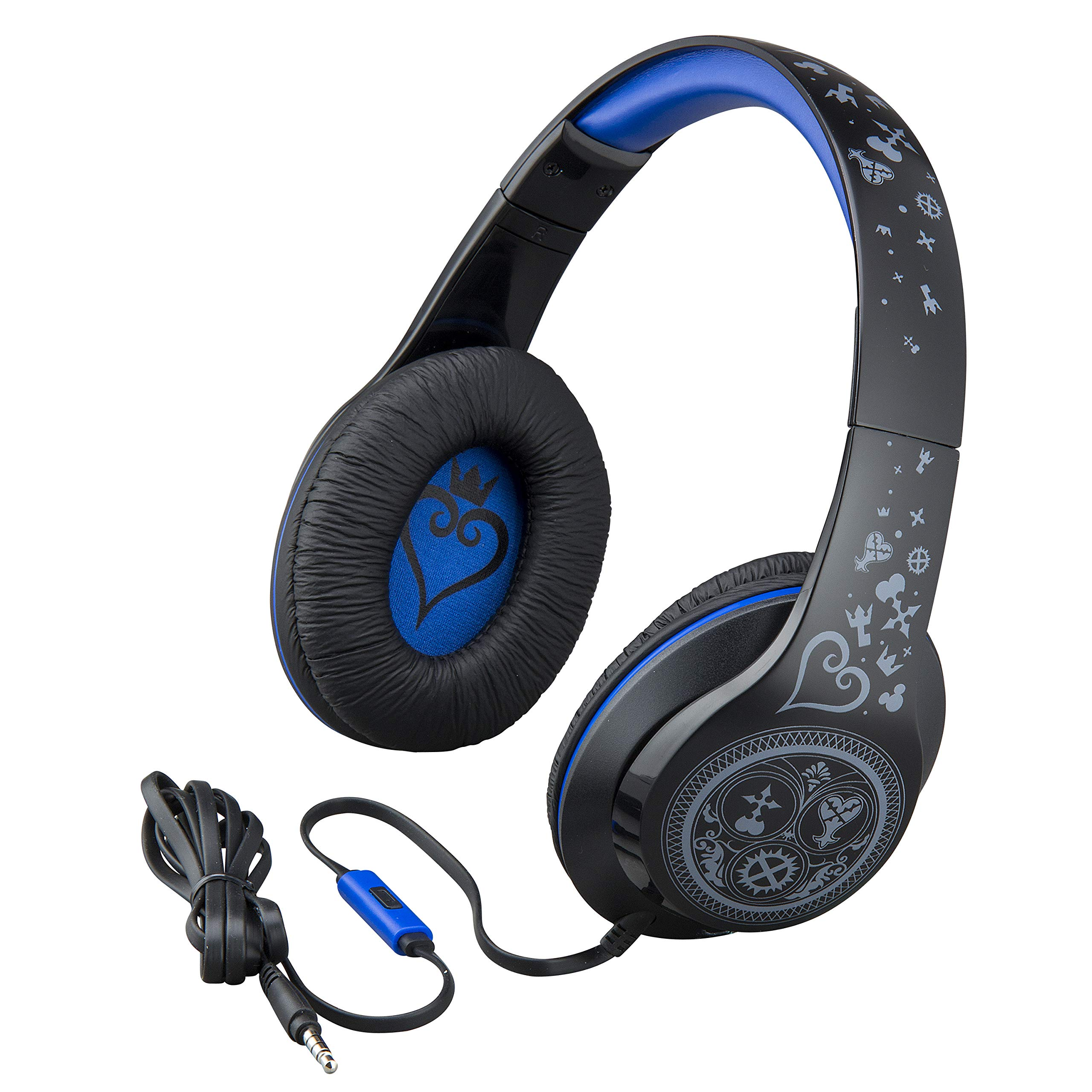 Kingdom Hearts Over The Ear Headphones with Built in Microphone Quality Sound from The Makers of iHome by eKids