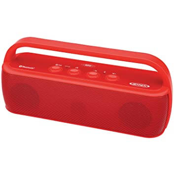 Jensen SMPS 627 R Portable Bluetooth Wireless Stereo Rechargeable Speaker