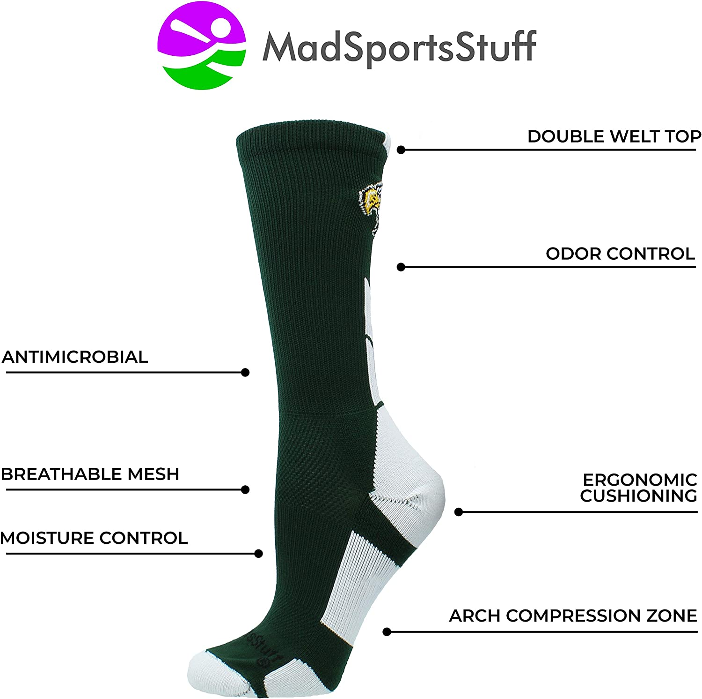 Multiple Colors MadSportsStuff Eagles Logo Athletic Crew Socks