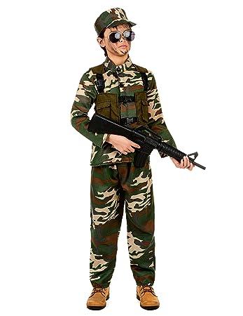 Costume militare bambino 10 12 anni (140 152)  Amazon.it  Giochi e  giocattoli 4c9291805354