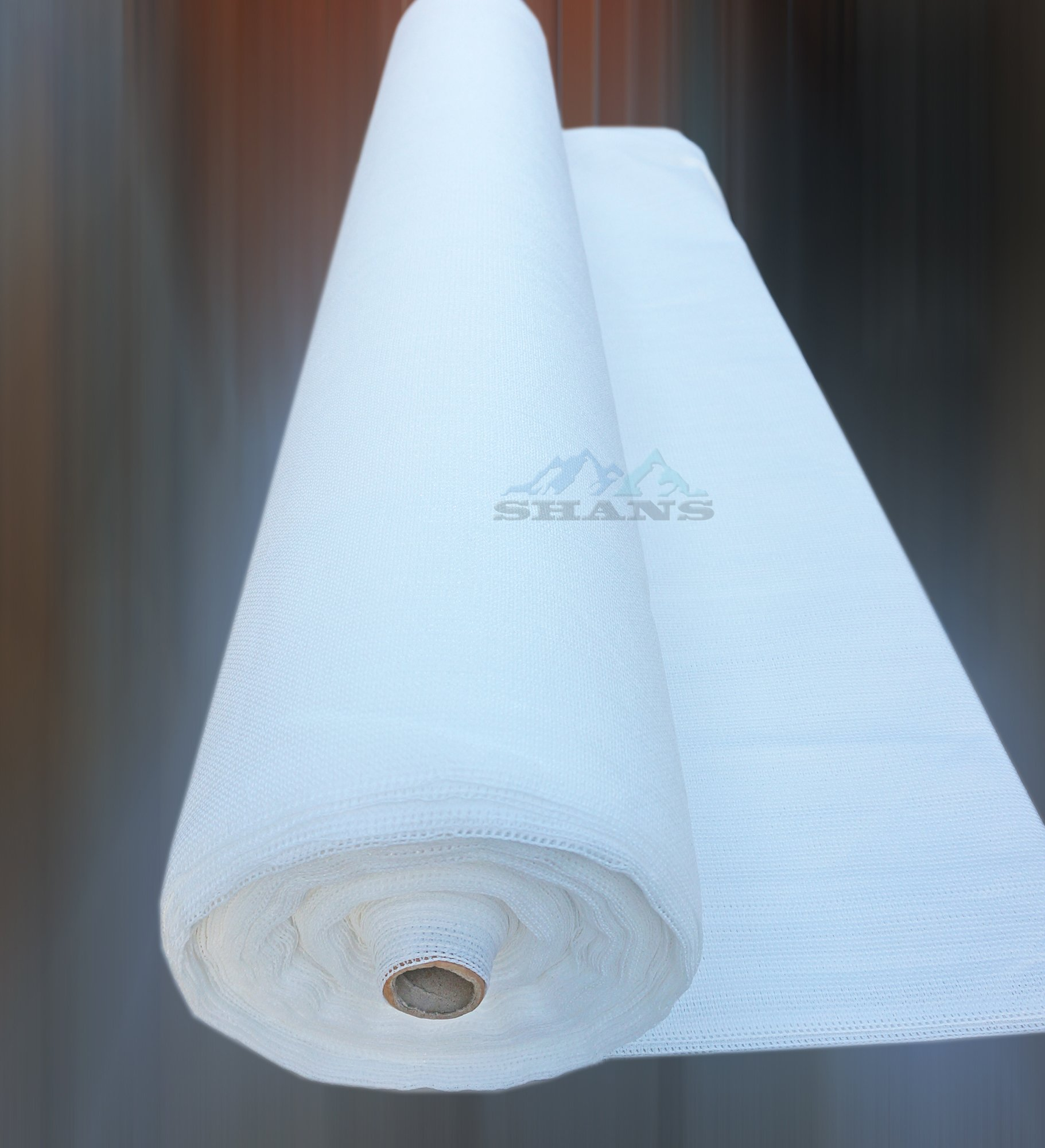 SHANS 90% UV Resistant Fabric Shade Cloth Pure White With White Clips Free (10 ft x 60 ft)