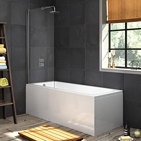 1700mm Luxury Large Single Ended Bath Straight Bathtub Panel Shower ...