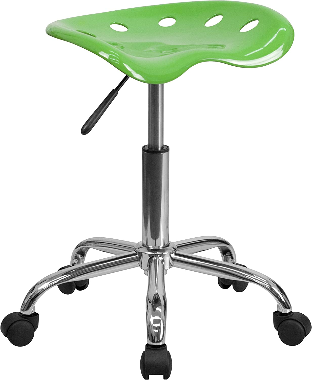 Flash Furniture Vibrant Spicy Lime Tractor Seat and Chrome Stool