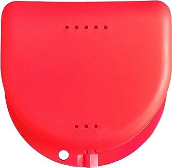 Caja para prótesis dental, frenillos, ortodoncia, aparato dental, protector bucal (Pink Translucent): Amazon.es: Salud y cuidado personal