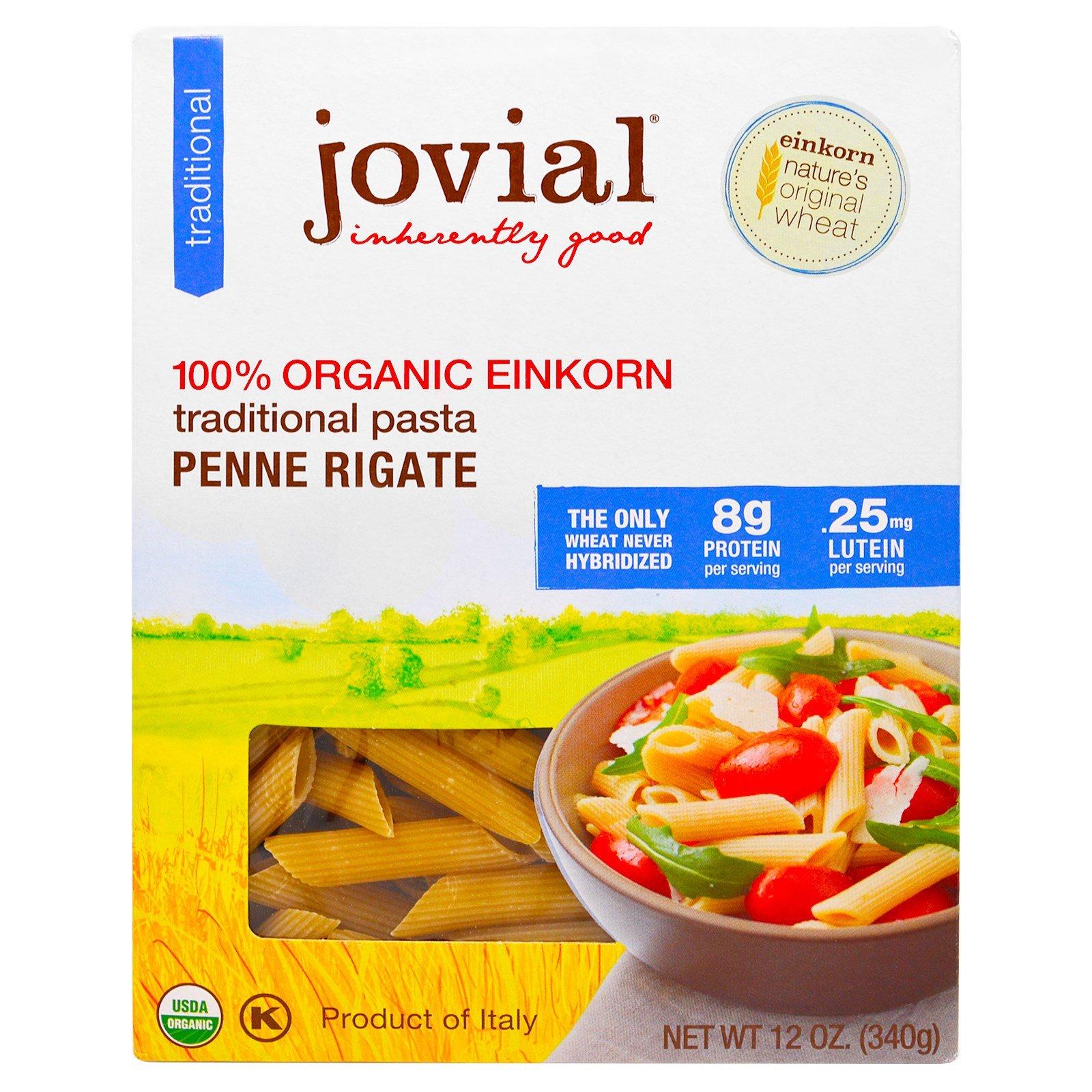 Jovial 100% Organic Einkorn Penne Rigate (6 Pack)