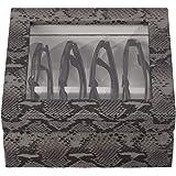 OYOBox Maxi Luxury Eyewear Organizer Lacquered Wood Box for Glasses Sunglasses Glossy Black ST5025