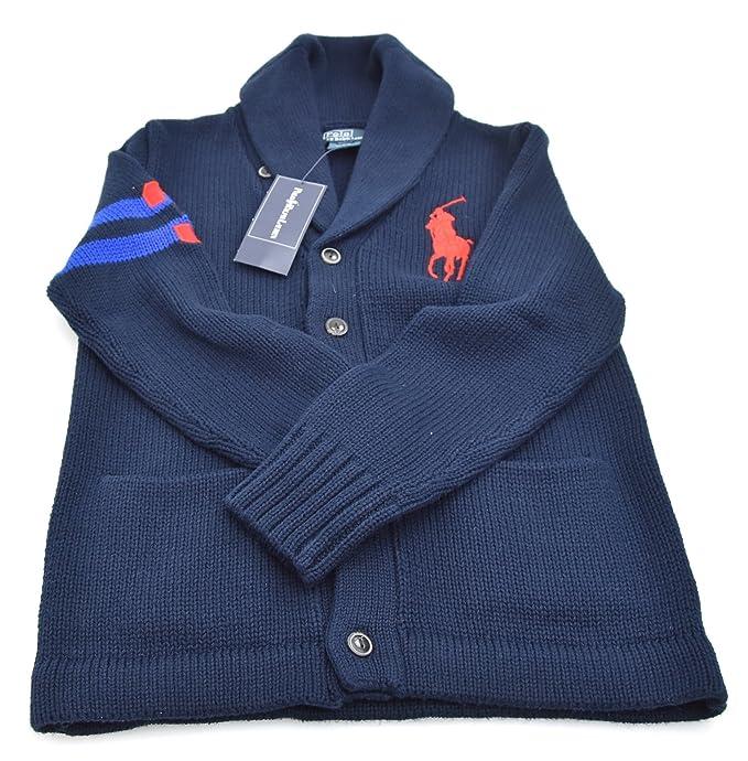 Polo Ralph Lauren Jersey Suéter Cárdigan para Niño Art. K40 SLSH3 ...