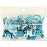 Buttons Galore CB106 Color Blend Buttons, 3-Ounce, Teal Ice, 3 Shades of Teal