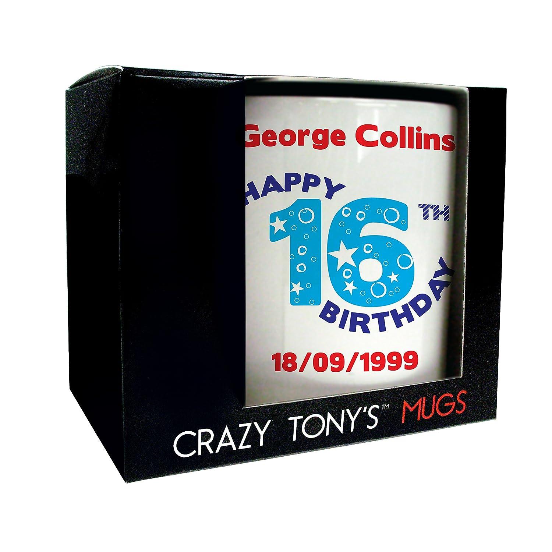 Personalised 16th Birthday Mug Crazy Tony s 16th Birthday Gift