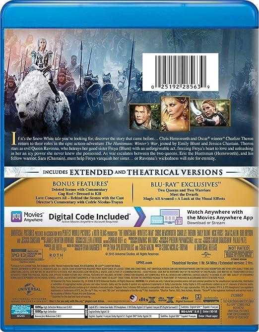The Huntsman: Winters War Blu-ray + DVD + Digital HD Italia ...