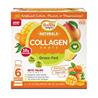 Delights Grass-Fed Collagen, Refreshing Tropical Mango, 6 Shots, Total Weight 15...