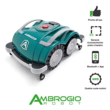Ambrogio Robot am060d0 K8z Cortacésped Robot L60 Deluxe Sin instalación, Verde, 44 x 36 x 20 cm: Amazon.es: Jardín