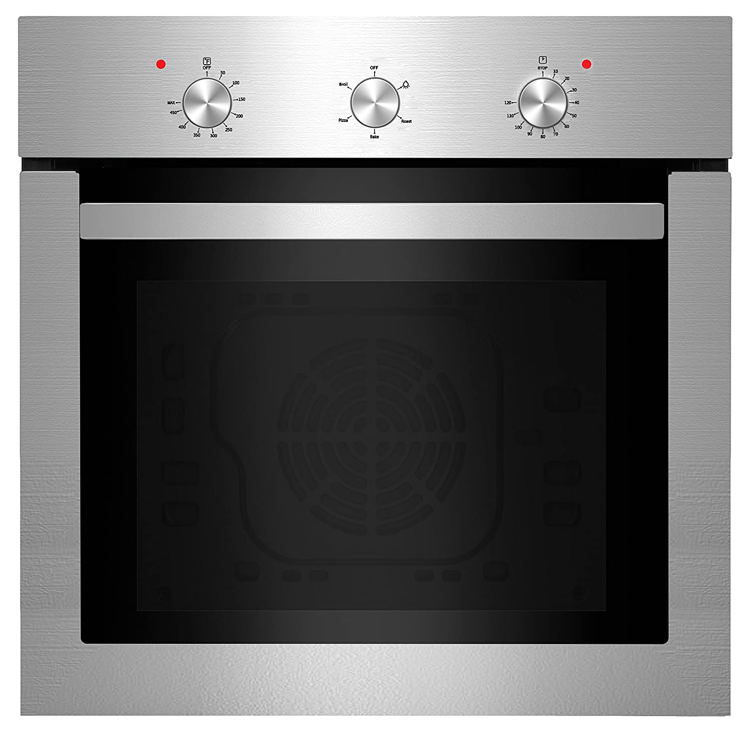 """Empava 24"""" Push Buttons Electric Built-in Economy Under-Counter Stainless Steel Single Wall Ovens EMPV-24WOA01-LTL"""
