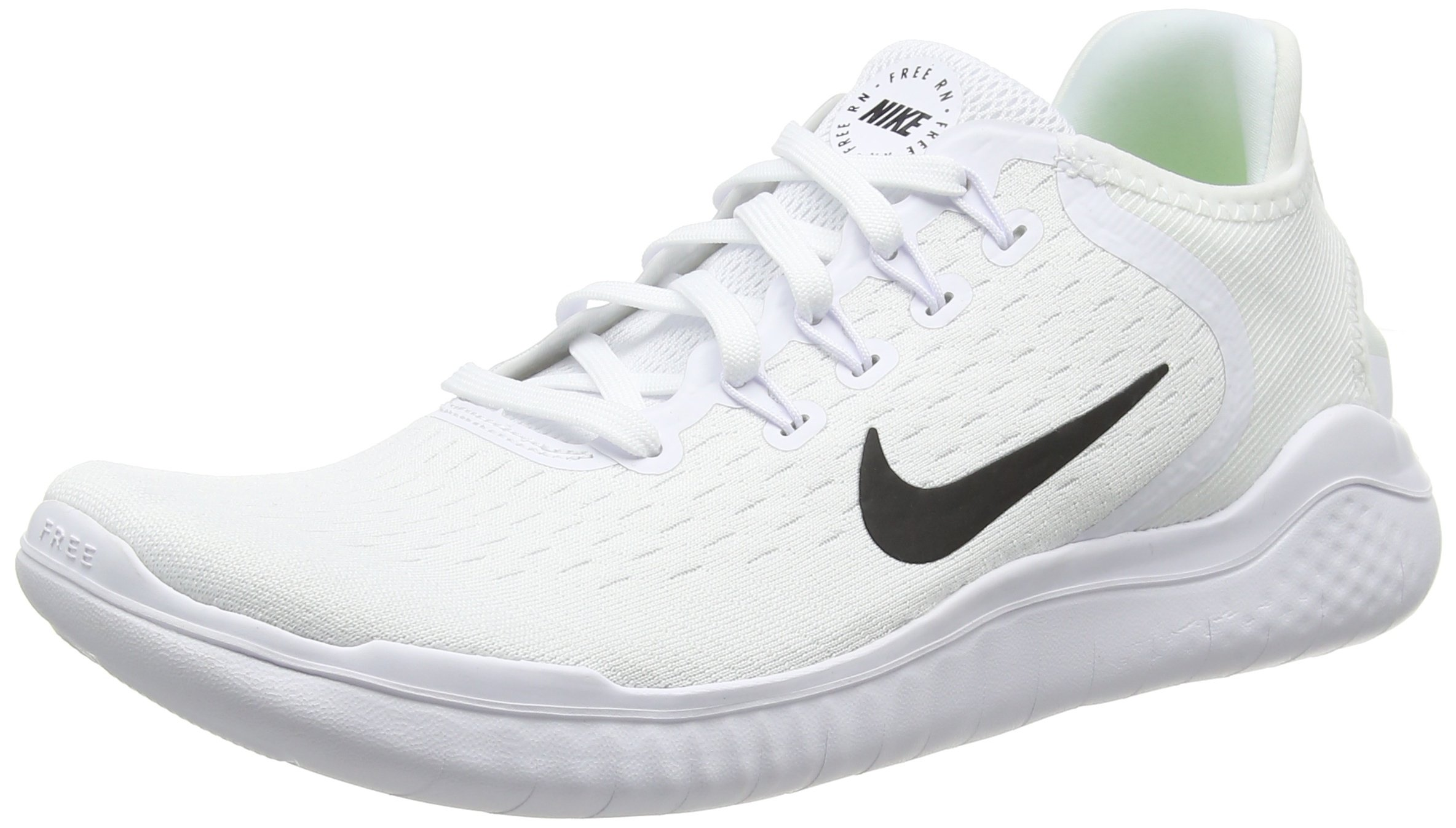 f1d76cce2751 Galleon - NIKE Men s Free RN 2018 Running Shoe White Black Size 8.5 M US