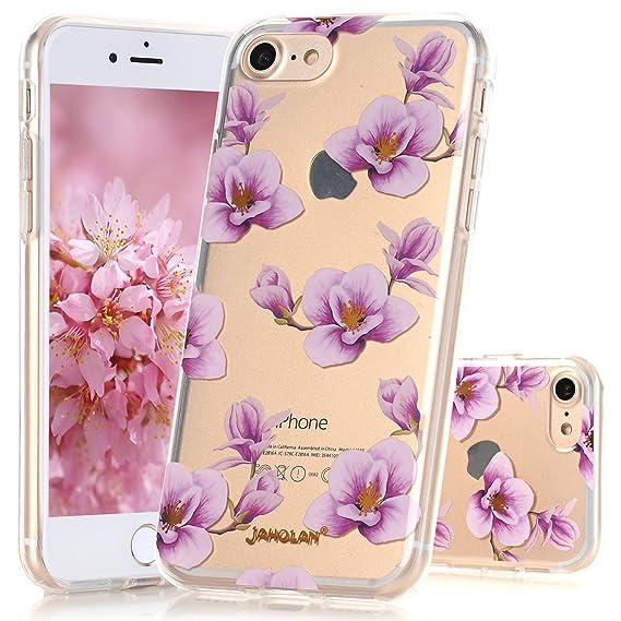 iphone 8 case purple flowers