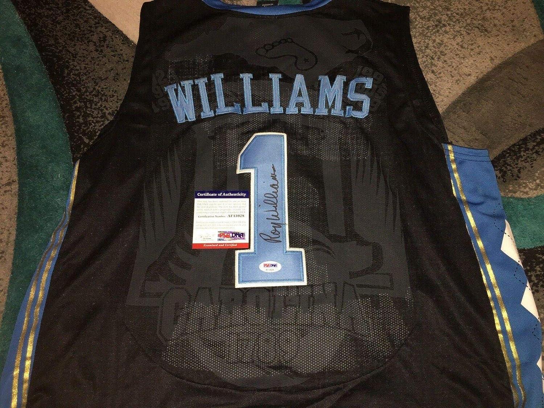 Roy Williams Signed University Of North Carolina Jersey Coach PSA ...