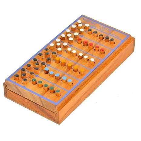 Amazon BRAIN GAMES Wooden Mastermind Game Toys Games Unique Wooden Mastermind Game