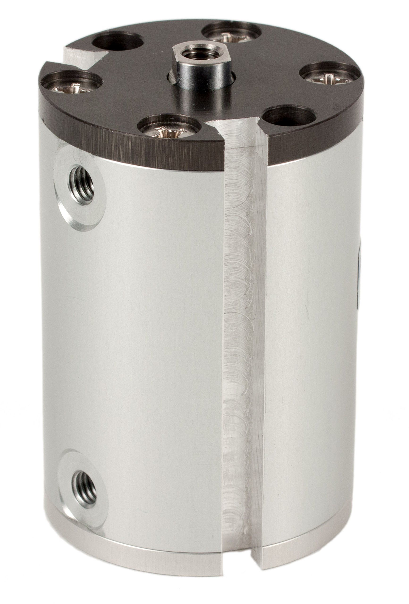 Fabco-Air J-7-X-E Original Pancake Cylinder, Double Acting, Maximum Pressure of 250 PSI, Switch Ready with Magnet, 3/4'' Bore Diameter x 1-1/2'' Stroke