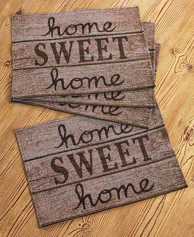 The Lakeside Collection Set of 4 Home Sweet Home Placemats
