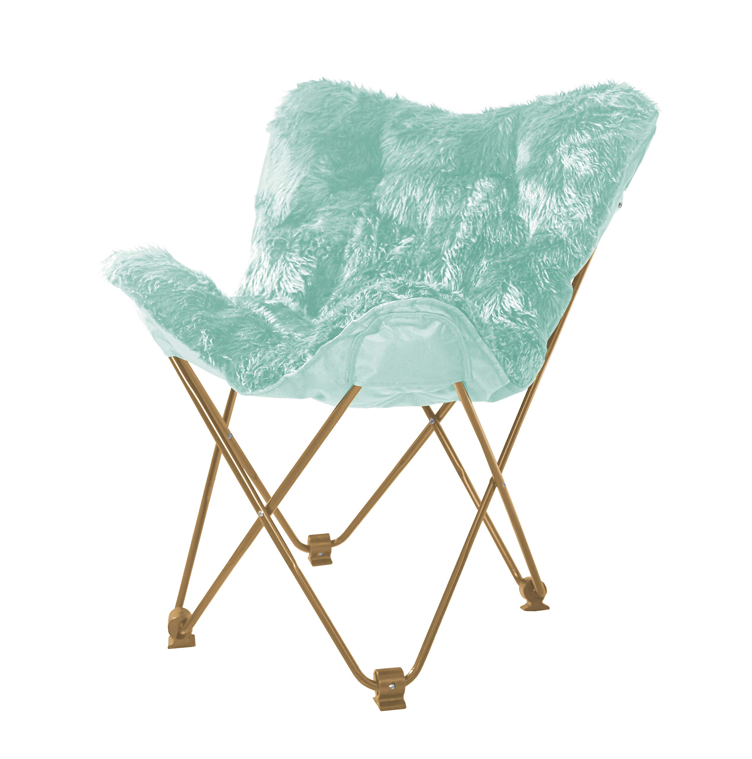 Urban Shop WK657563 Mongolian Butterfly Chair, Aqua