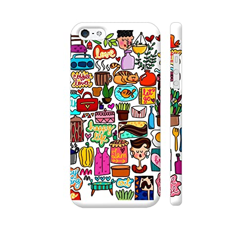on sale 64c2d 5a244 Colorpur iPhone 5 / 5s Cover - Little Cute Quirky Daily: Amazon.in ...