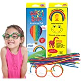 Made in USA Wikki Stix Reusable Wax and Yarn Sculpting Sticks in The Rainbow Pak Assortment of 24.