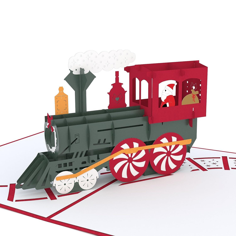 Amazon.com : Lovepop Santa Train Pop Up Card, 3D Card, Christmas ...