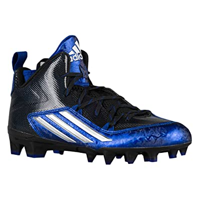 Adidas Men`s Crazyquick 2.0 Mid Football Cleats, 10.5, CORE BLACK/ PLATINUM