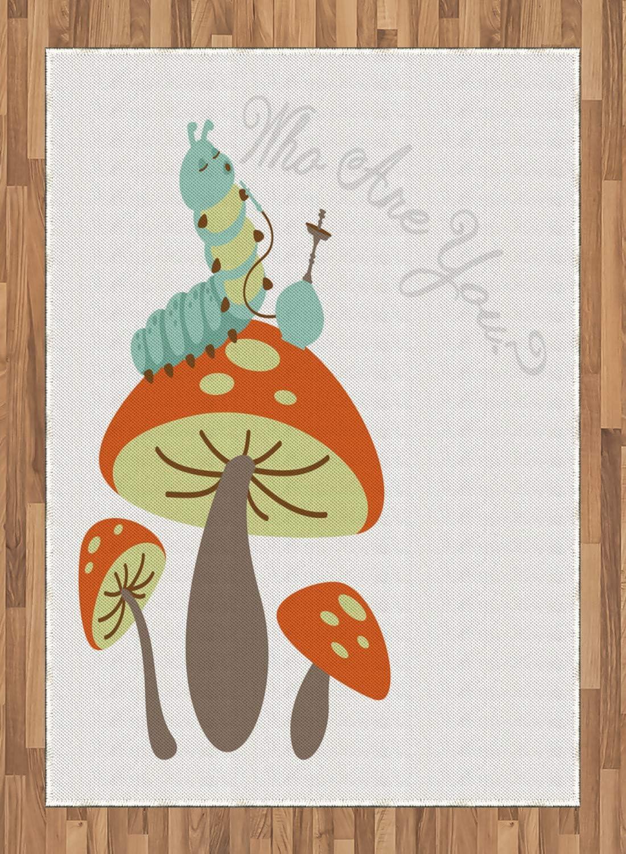 ABAKUHAUS Fantasía Alfombra de Área, Cachimba Oruga, con Estampa Digital Ideal para Sala de Estar o Dormitorio, 160 x 230 cm, Multicolor