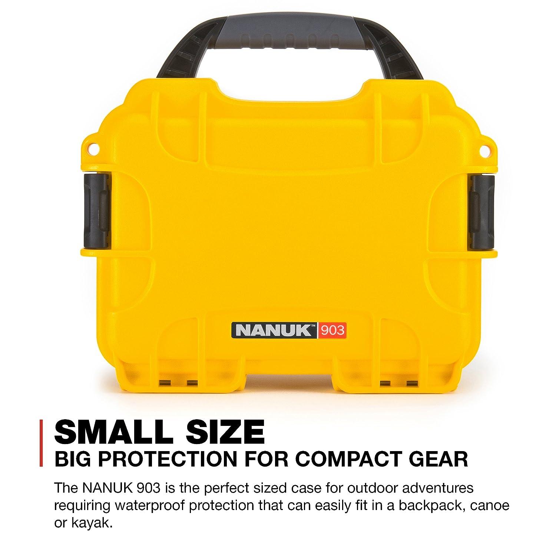 Black Nanuk 903 Waterproof Hard Case with Foam Insert