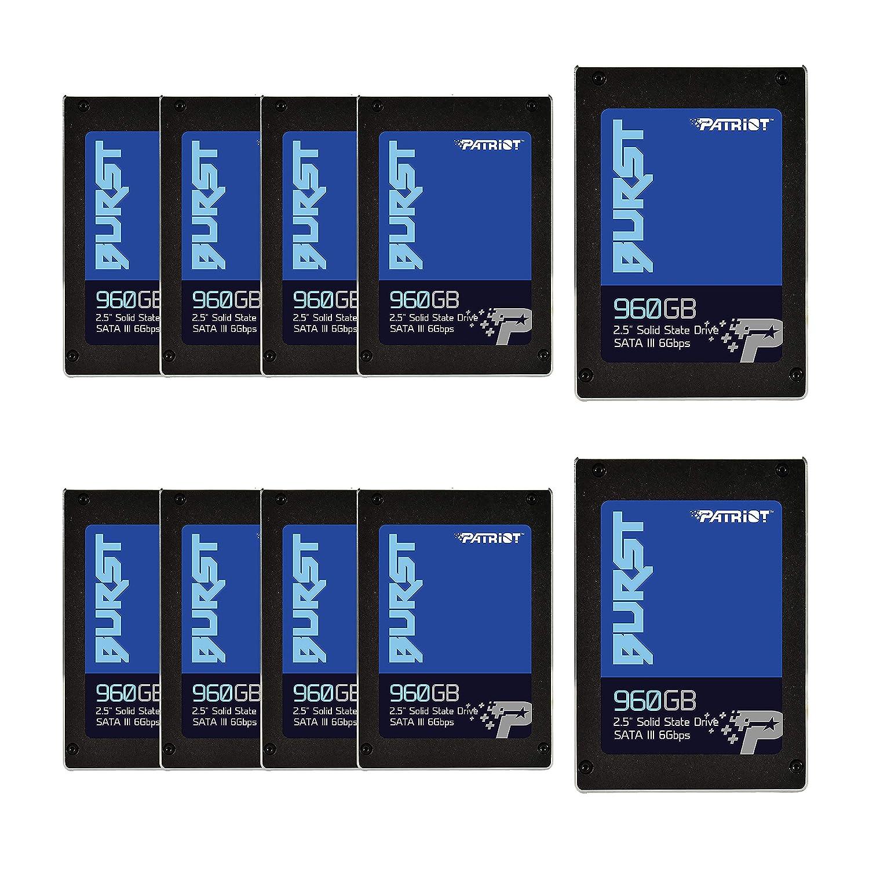 Patriot Memory Burst SSD 960GB SATA III 内蔵ソリッドステートドライブ 2.5インチ - 小売パッケージ 10ユニットパック B07PK46TP9