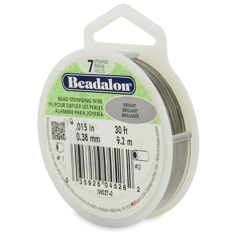 Amazon.com: Beadalon Stringing Wire 7-Strand .015-Inch (.38 ...