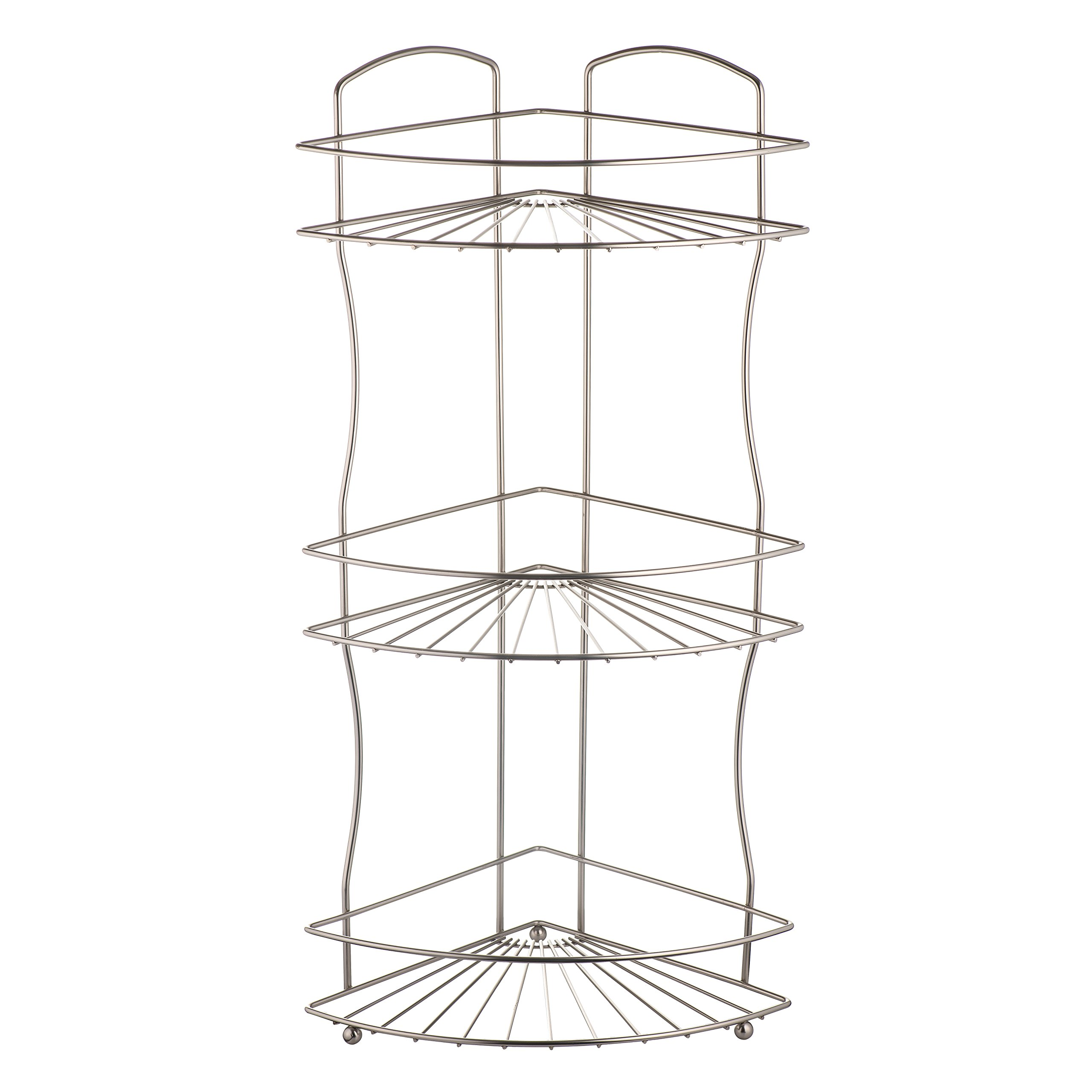 AMG and Enchante Accessories Free Standing Bathroom Spa Tower Floor Caddy, FC232-A SNI, Satin Nickel by AMG (Image #7)
