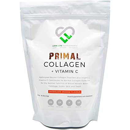 Primal Colágeno + Vitamina C de LLS | Colágeno bovino hidrolizado más vitamina C para la ...