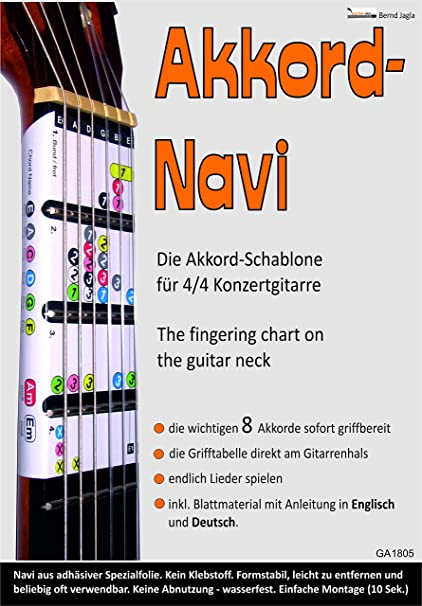 Guitar-Navi. La tabla de agarre de acordes directamente en el ...