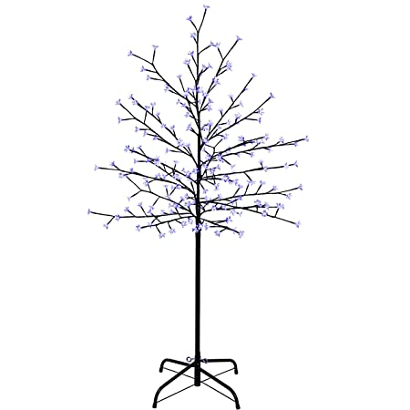 WeRChristmas 1.5 m/ 5 ft Pre-Lit 200 LED Illuminated Cherry Blossom Tree with Brown Trunk and Branches, Blue-Best-Popular-Product