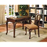 amazon com 2pc home office writing desk side chair set kitchen