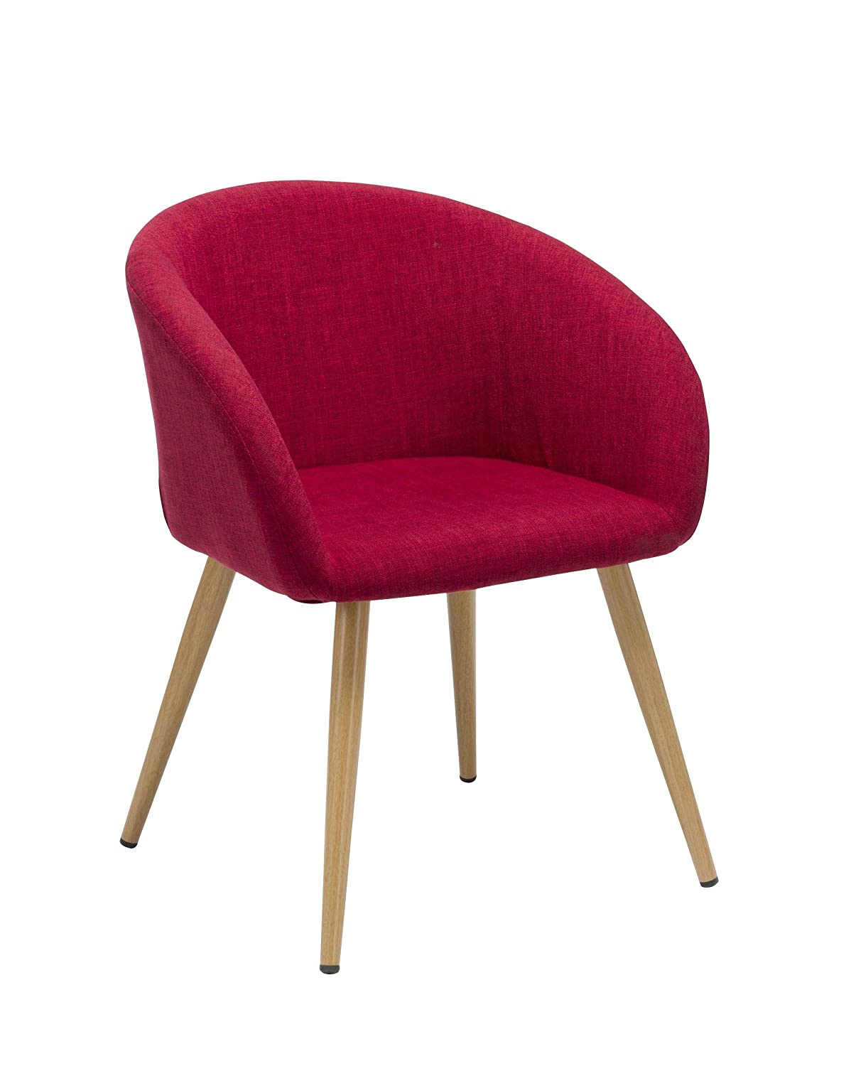 Duhome Elegant Lifestyle Dining Chair Fabric (Linen) Red Chair Retro Design Metal Legs Wood Look Colour Selection WY-8023 Duhome Elegant Lifestyle®